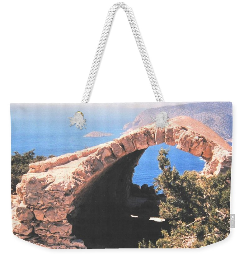 Greece Weekender Tote Bag featuring the photograph Across To Turkey by Ian MacDonald