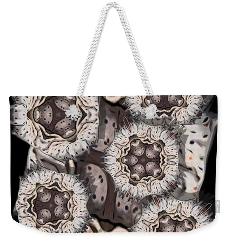 Abstract Weekender Tote Bag featuring the digital art Actiniaria by Ron Bissett
