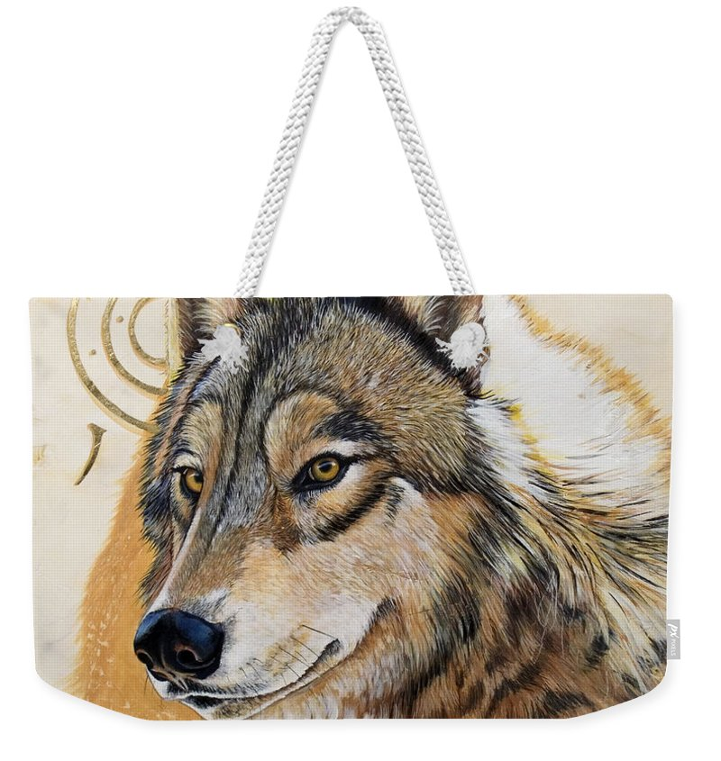 Acrylics Weekender Tote Bag featuring the painting Adobe Gold by Sandi Baker