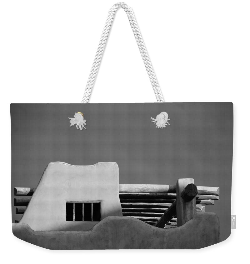 Architecture Weekender Tote Bag featuring the photograph Adobe Turrett by Rob Hans
