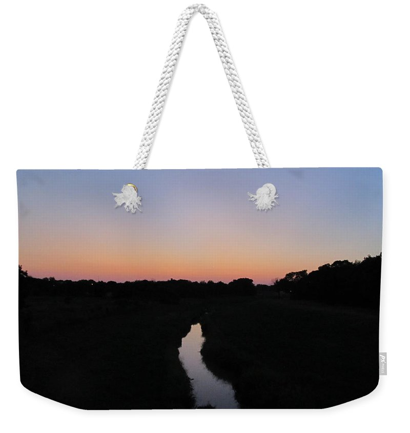 Landscape Weekender Tote Bag featuring the photograph Adrift by Nicholas Haddox