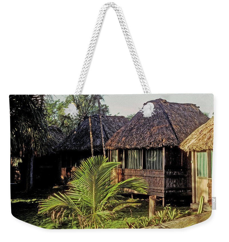 Belize Weekender Tote Bag featuring the photograph Adventure Inn by Gary Wonning