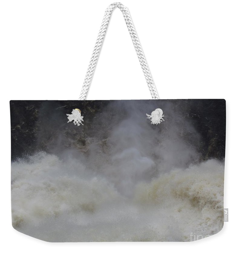 Chutes Montmorency Weekender Tote Bag featuring the photograph Go'n Over - Chutes Montmorency by Donica Abbinett