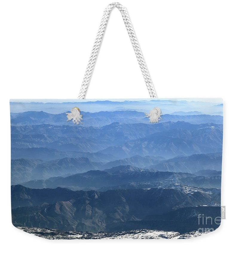 Weekender Tote Bag featuring the photograph Aerial Landscape by Dia Karanouh