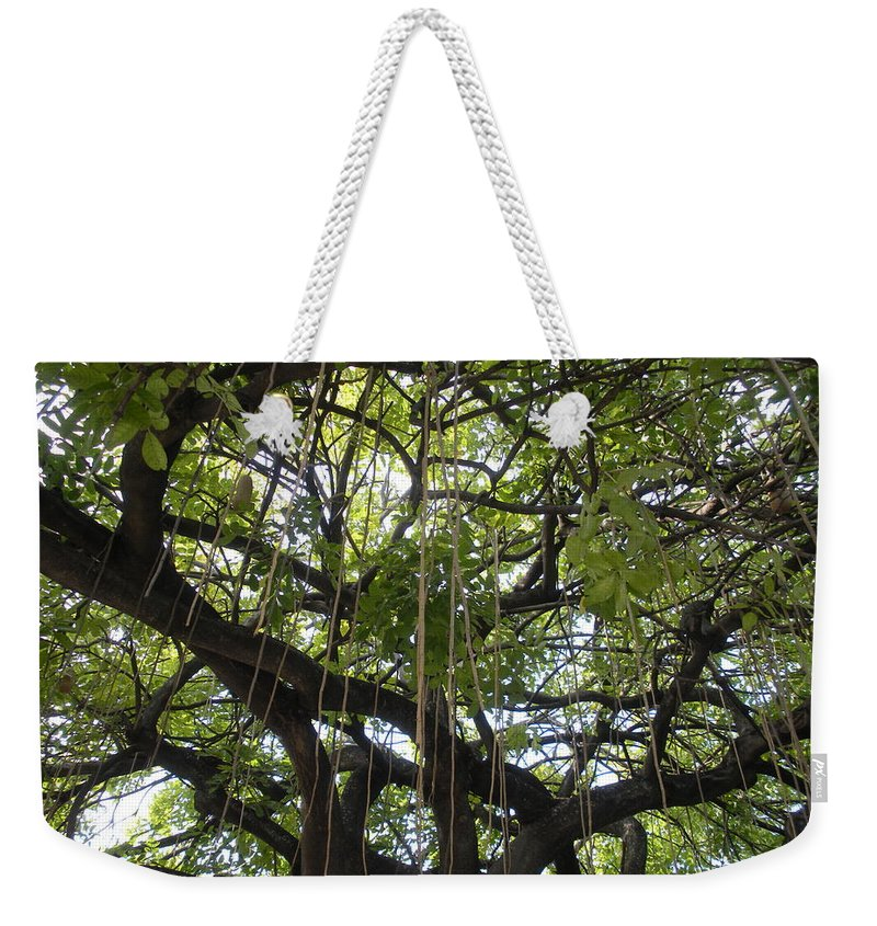 Trees Weekender Tote Bag featuring the photograph Aerial Network I by Maria Bonnier-Perez