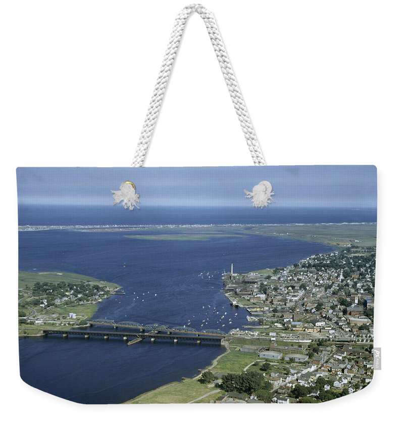 Outdoors Weekender Tote Bag featuring the photograph Aerial View Of The Mouth Of Merrimack by Jack Fletcher