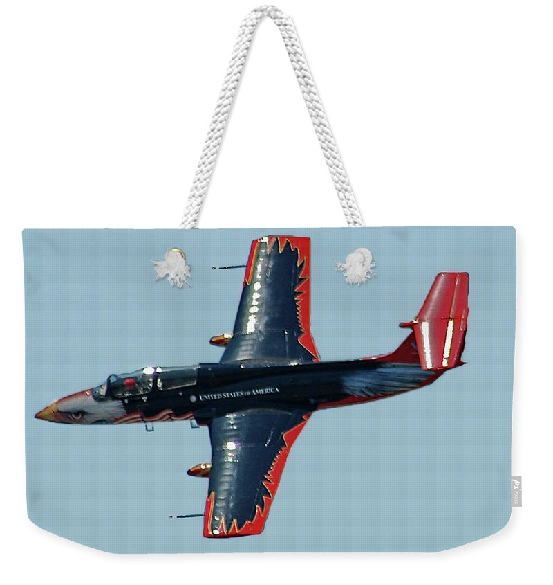 Aero L Weekender Tote Bag featuring the digital art Aero L 29 Dolphin by DigiArt Diaries by Vicky B Fuller
