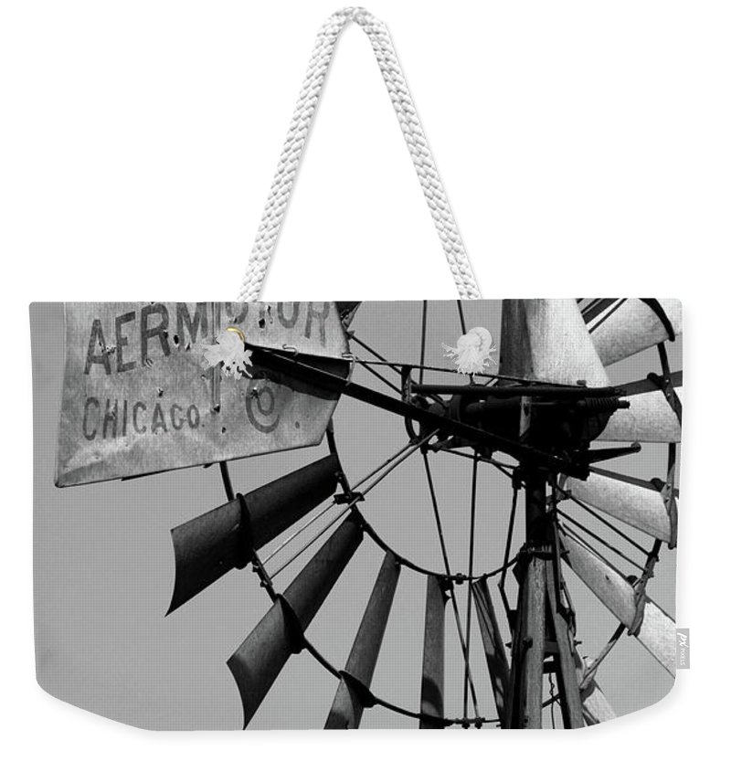 Griculture Weekender Tote Bag featuring the photograph Aeromotor by Alan Look