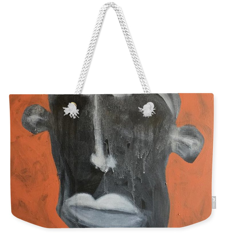 Abstract Weekender Tote Bag featuring the painting Aetas No. 21 by Mark M Mellon
