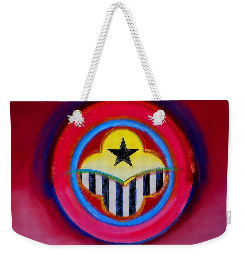 Button Weekender Tote Bag featuring the painting African American by Charles Stuart