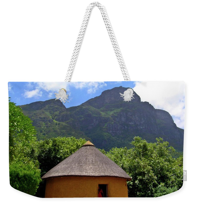 Africa Weekender Tote Bag featuring the photograph African Hut South Africa by Douglas Barnett
