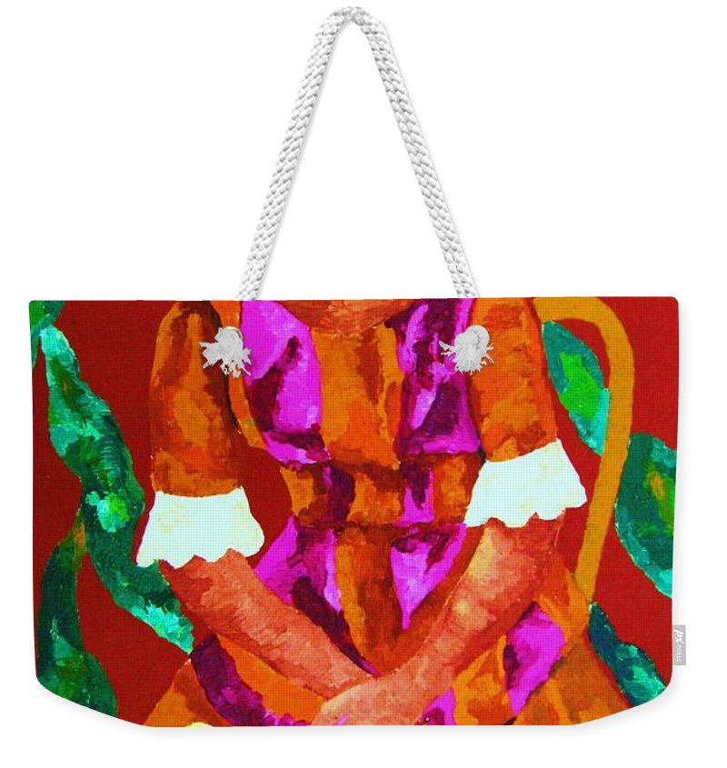 African Princess Weekender Tote Bag featuring the painting African Princess by Carole Spandau
