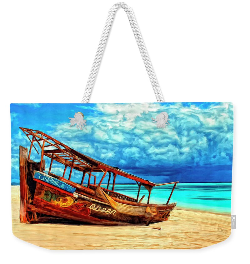African Queen Weekender Tote Bag featuring the painting African Queen by Dominic Piperata