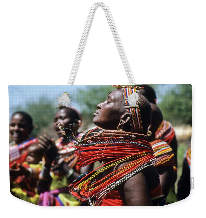 Africa Weekender Tote Bag featuring the photograph African Rhythm by Michele Burgess