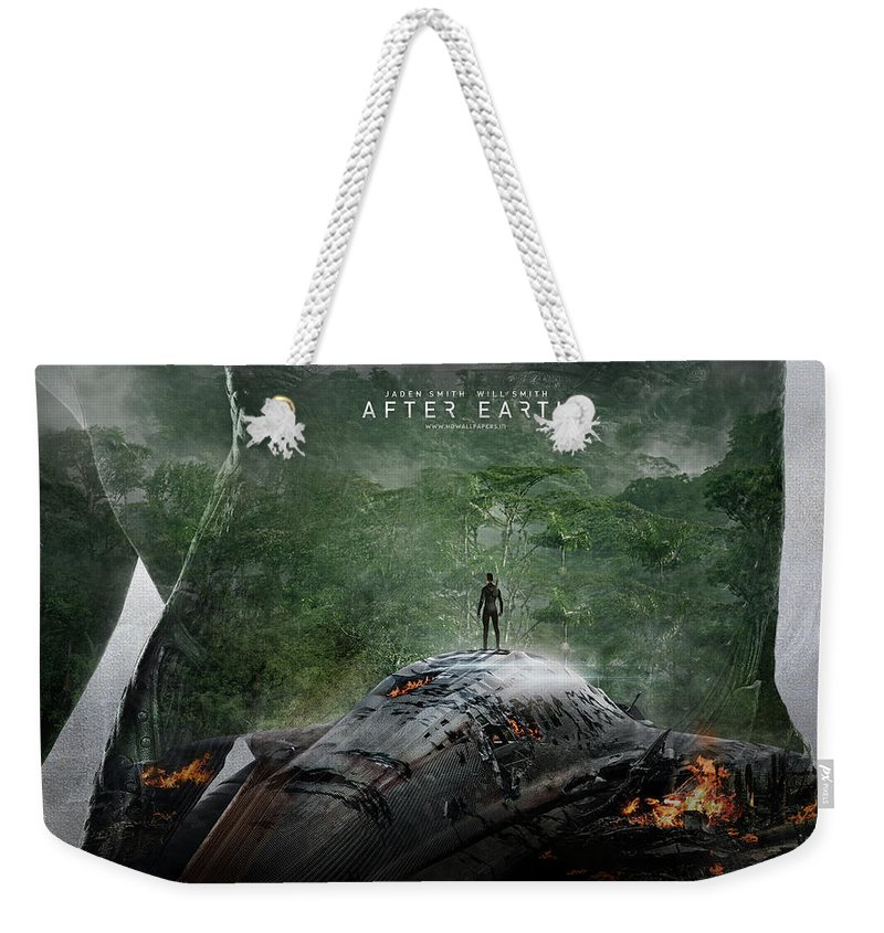 After Earth Movie Weekender Tote Bag featuring the digital art After Earth Movie 2013 by Mery Moon