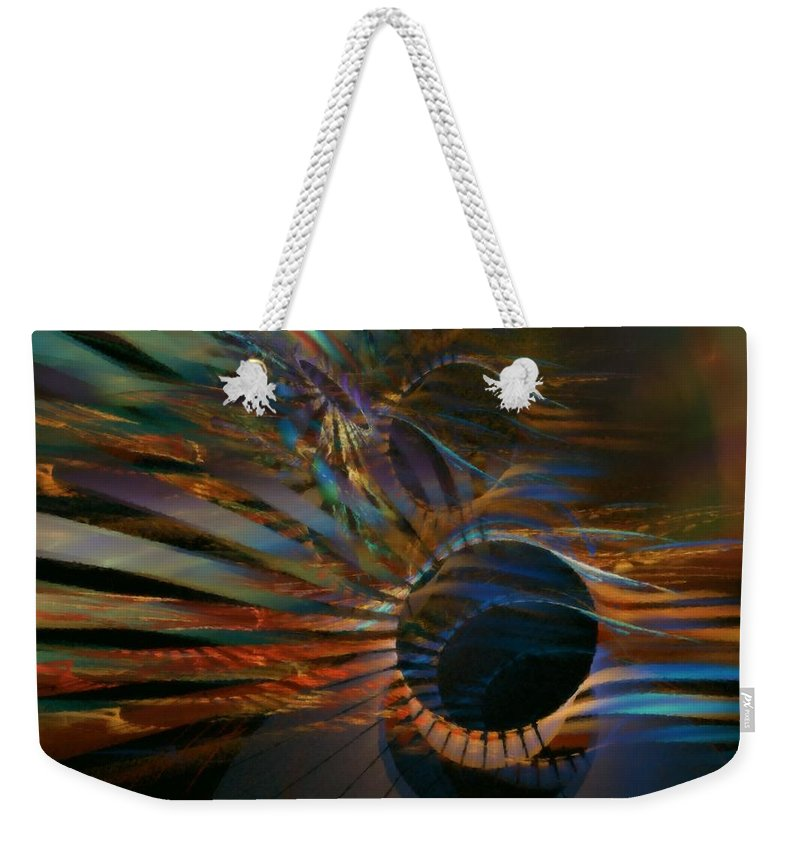 Abstract Weekender Tote Bag featuring the digital art After Hours by NirvanaBlues