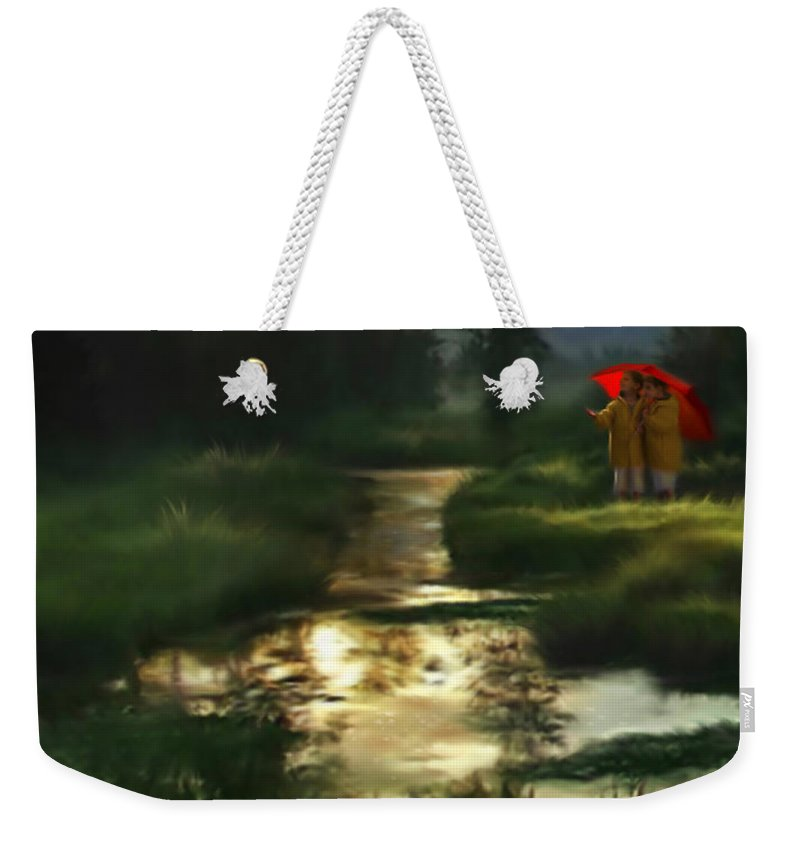Boys Weekender Tote Bag featuring the digital art After Morning Rain by Stephen Lucas