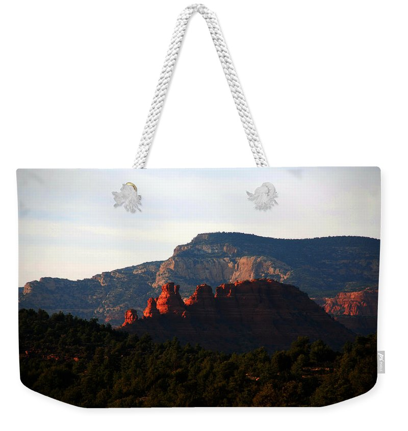 Photography Weekender Tote Bag featuring the photograph After Sunset In Sedona by Susanne Van Hulst