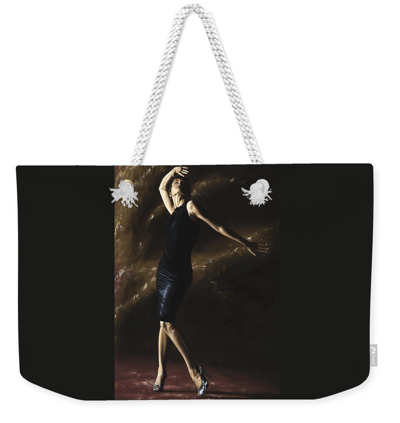 Dance Weekender Tote Bag featuring the painting After the Dance by Richard Young