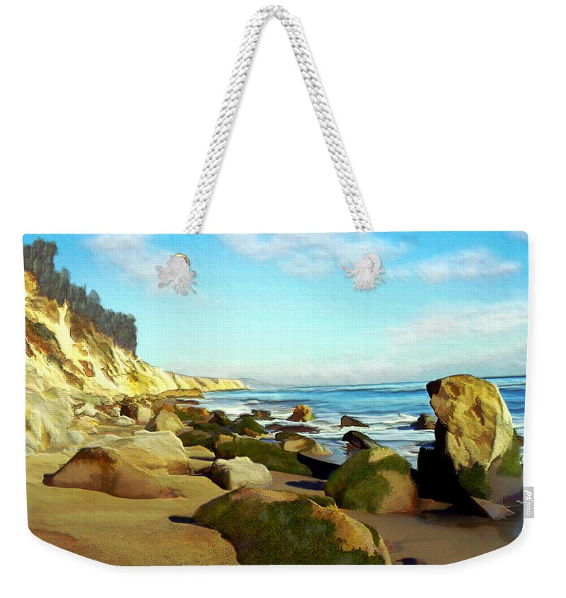 Ocean Weekender Tote Bag featuring the photograph After The Fog Gaviota by Kurt Van Wagner