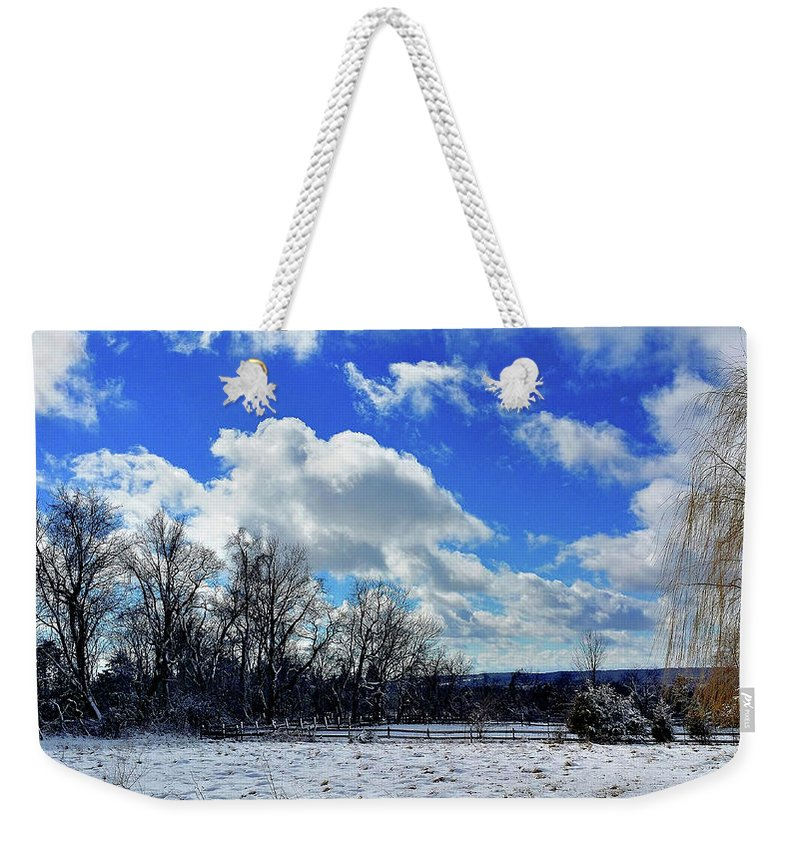 Landscape Weekender Tote Bag featuring the photograph After The Snow Storm by Mark Victors