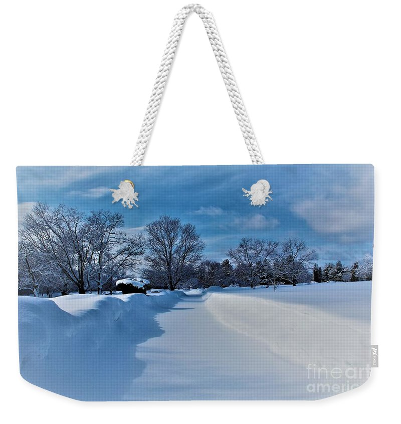 Winter Weekender Tote Bag featuring the photograph After The Storm by Claudette Letendre