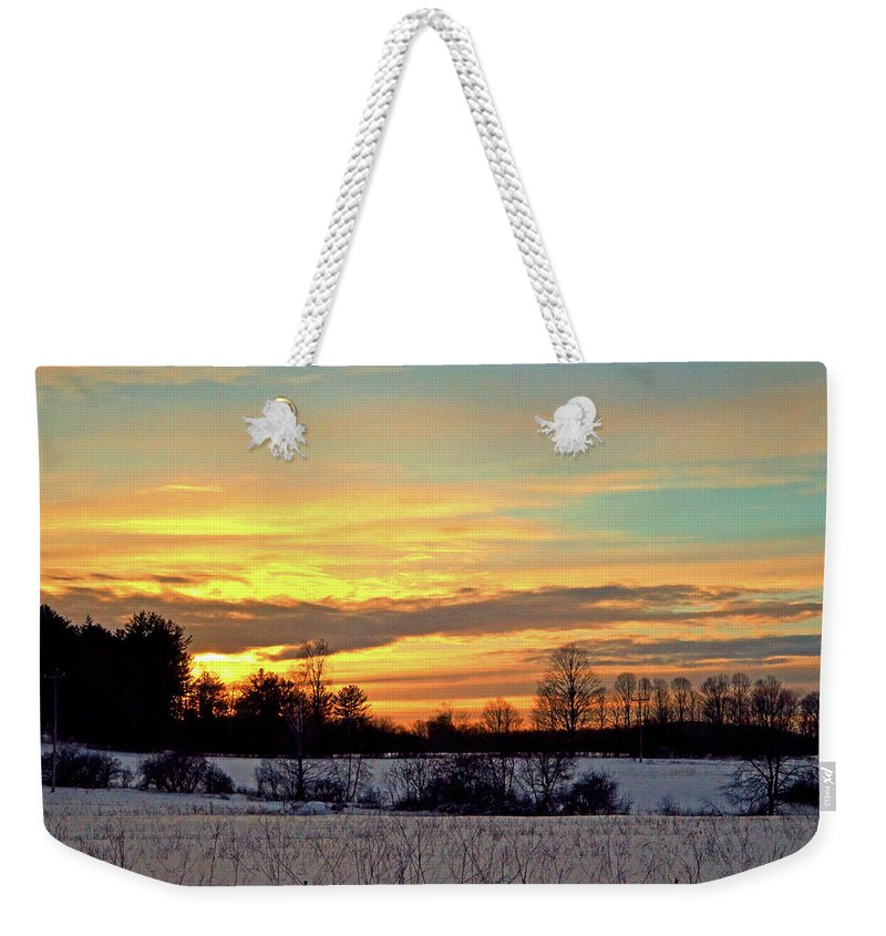 Landscape Weekender Tote Bag featuring the photograph After The Storm by Mark Schiffner