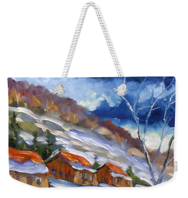 Art Weekender Tote Bag featuring the painting After The Storm by Richard T Pranke