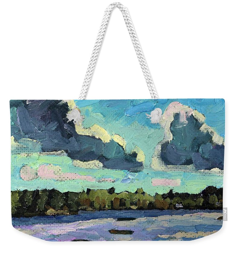 1770 Weekender Tote Bag featuring the painting Afternoon Cold Front by Phil Chadwick