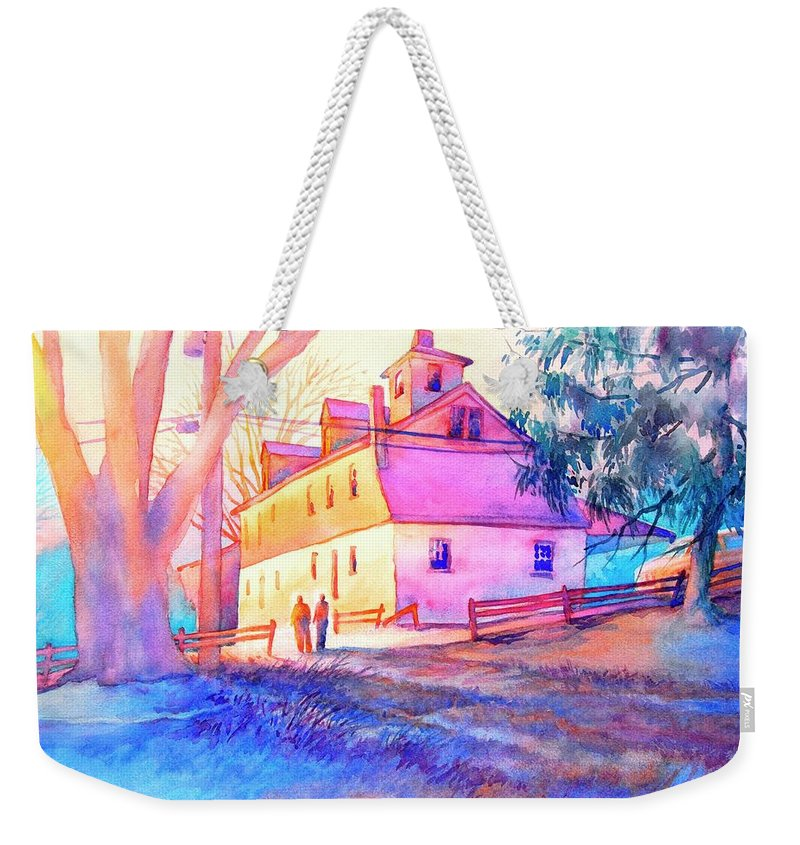 Landscape Weekender Tote Bag featuring the painting Afternoon Glow by Virgil Carter