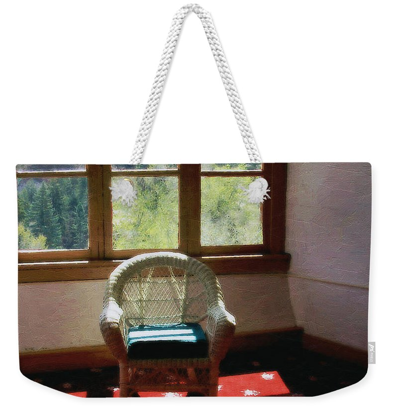 Antiques Weekender Tote Bag featuring the painting Afternoon In The Solarium by RC DeWinter