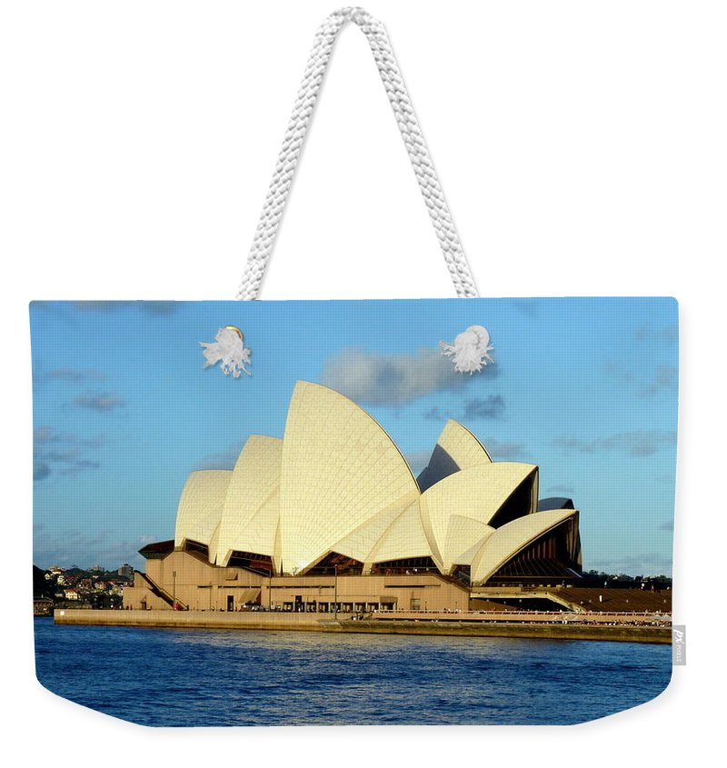 Sydney Weekender Tote Bag featuring the photograph Afternoon Light On The Sydney Opera House by Carla Parris