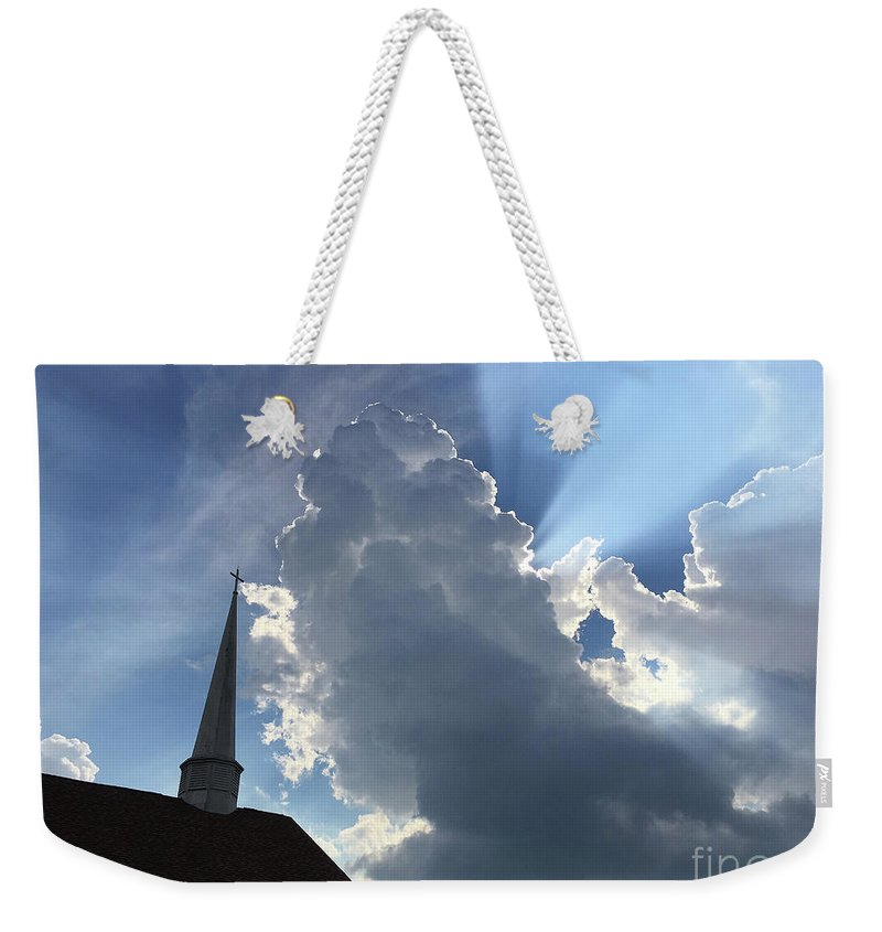 Old Church Weekender Tote Bag featuring the photograph Afternoon Reminder by Matthew Seufer