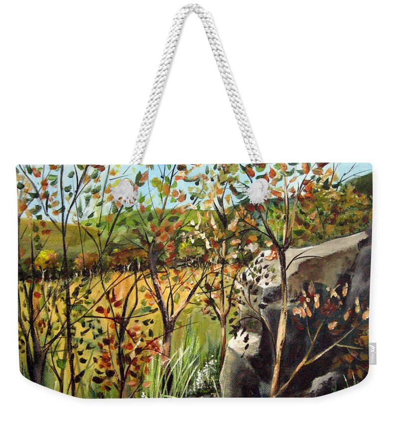 Weekender Tote Bag featuring the painting Afternoon Stroll by Ruth Palmer