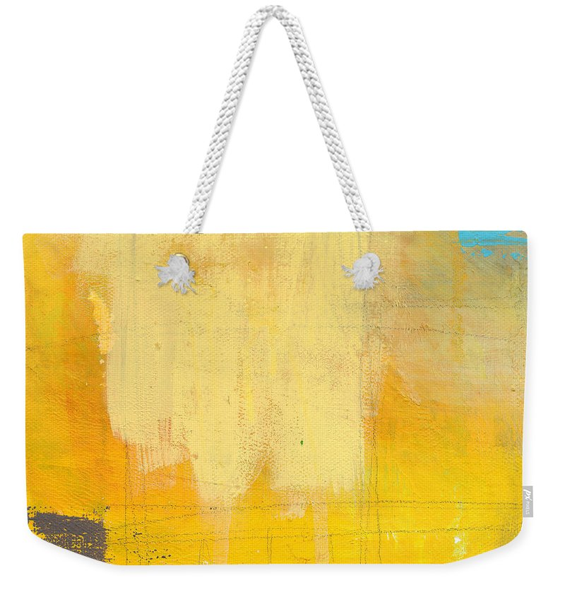 Abstract Weekender Tote Bag featuring the painting Afternoon Sun -Large by Linda Woods