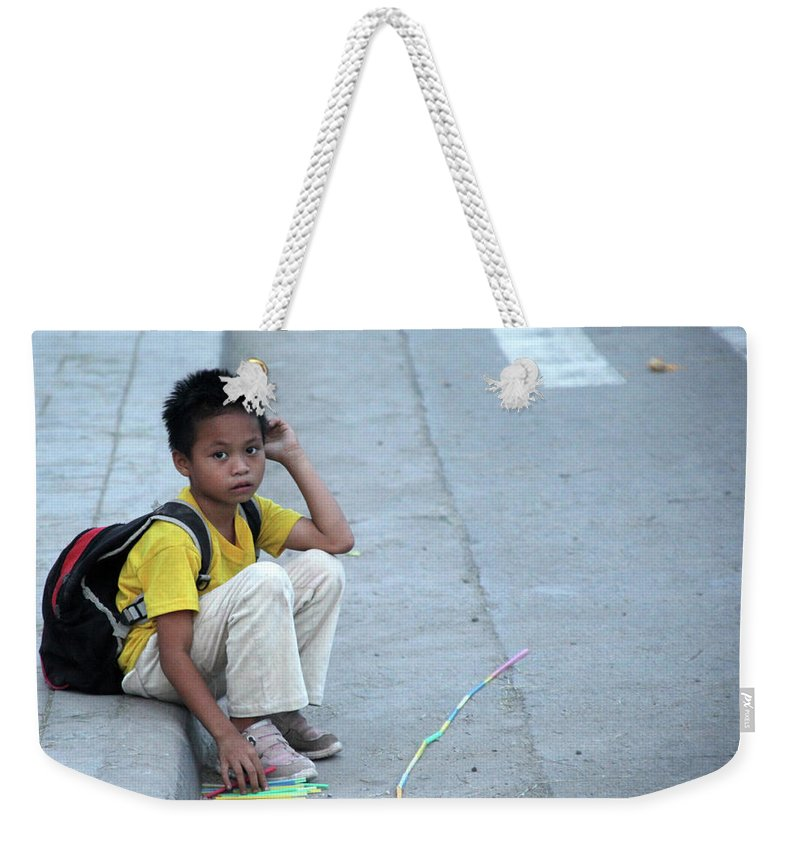 Mati Weekender Tote Bag featuring the photograph Again I Wait by Jez C Self