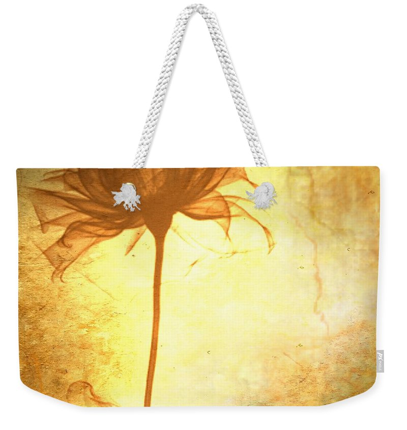 Flower Weekender Tote Bag featuring the painting Against All Odds by Jacky Gerritsen