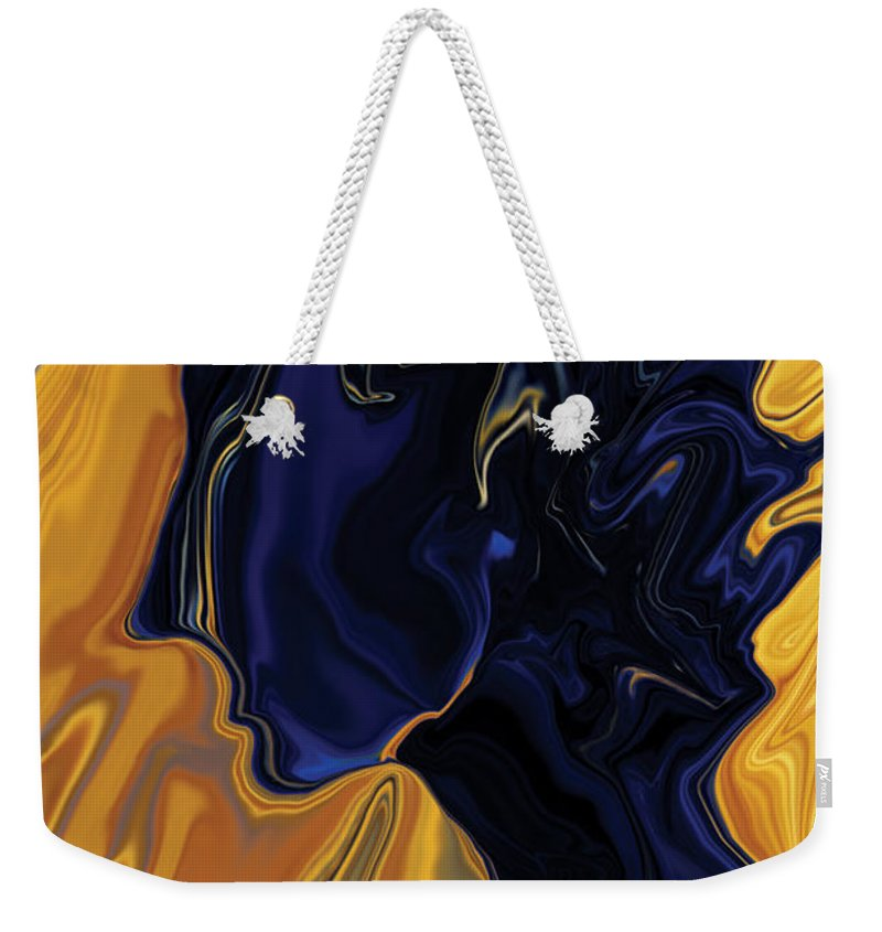 Abstract Weekender Tote Bag featuring the digital art Against The Wind by Rabi Khan