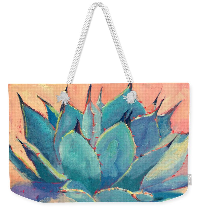 Plant Weekender Tote Bag featuring the painting Agave 2 by Athena Mantle