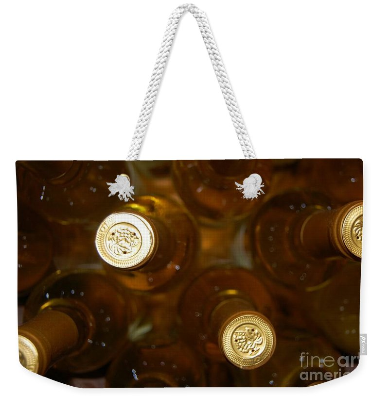 Wine Weekender Tote Bag featuring the photograph Aged Well by Debbi Granruth