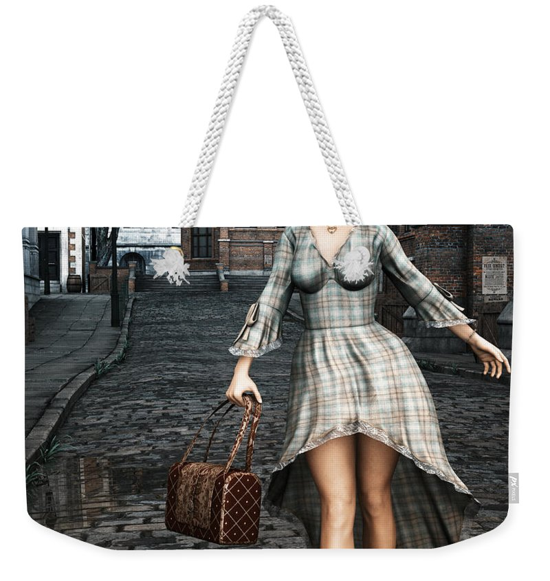 3d Weekender Tote Bag featuring the digital art Ageless Fashion by Jutta Maria Pusl