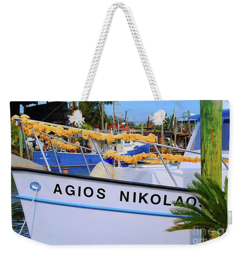 Agios Nicolaos Weekender Tote Bag featuring the photograph Agios Nikolaos by Jost Houk