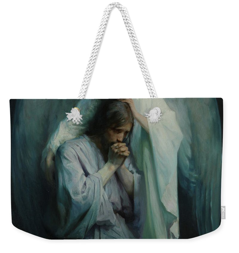 Religious Weekender Tote Bag featuring the painting Agony In The Garden, 1898 by Frans Schwartz