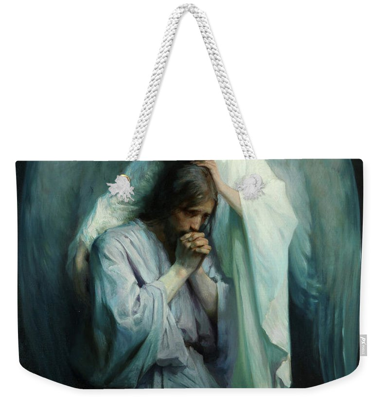 Agony In The Garden Weekender Tote Bag featuring the painting Agony In The Garden by Schwartz Frans