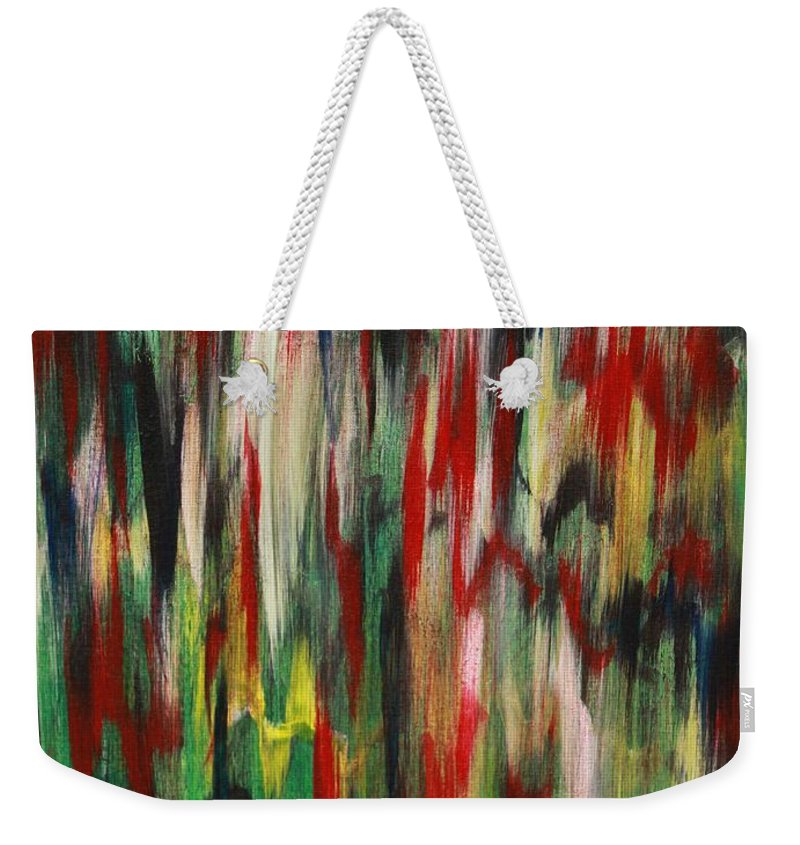 Abstract Weekender Tote Bag featuring the painting Agony by Jacqueline Athmann