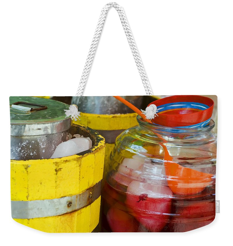 Beverage Weekender Tote Bag featuring the photograph Agua De Hamaica by Skip Hunt