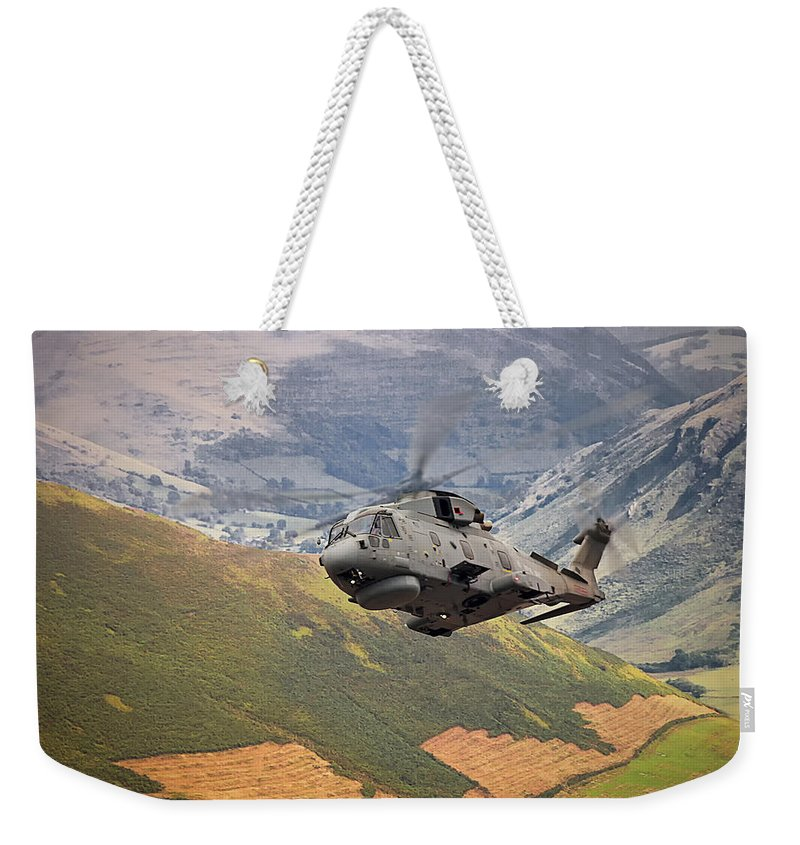 Aviation Weekender Tote Bag featuring the photograph Agusta Merlin Flies The Loop by Rob Lester