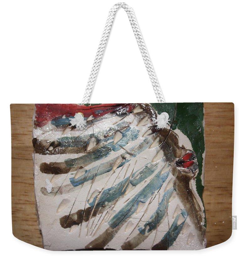 Jesus Weekender Tote Bag featuring the ceramic art Ahoy - Tile by Gloria Ssali