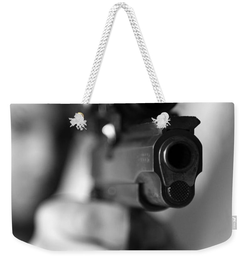 Sports Weekender Tote Bag featuring the photograph Aim by Amanda Barcon