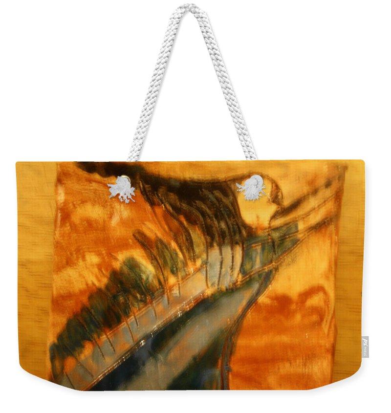 Jesus Weekender Tote Bag featuring the ceramic art Air - Tile by Gloria Ssali